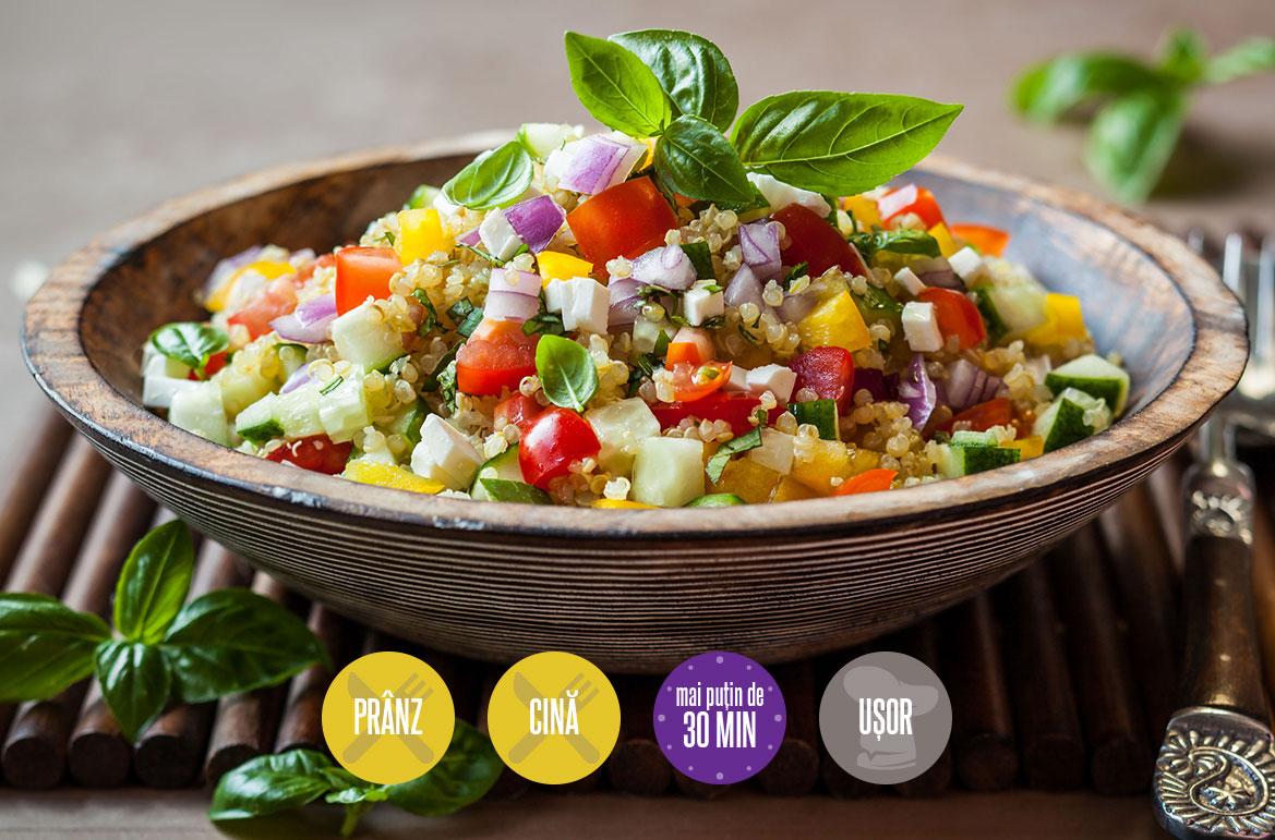 salată cu legume și quinoa