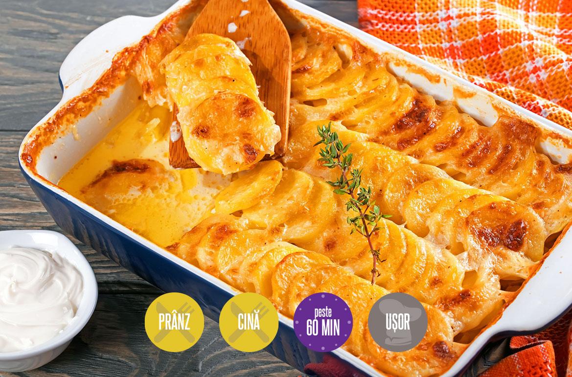 cartofi cu smântână la cuptor