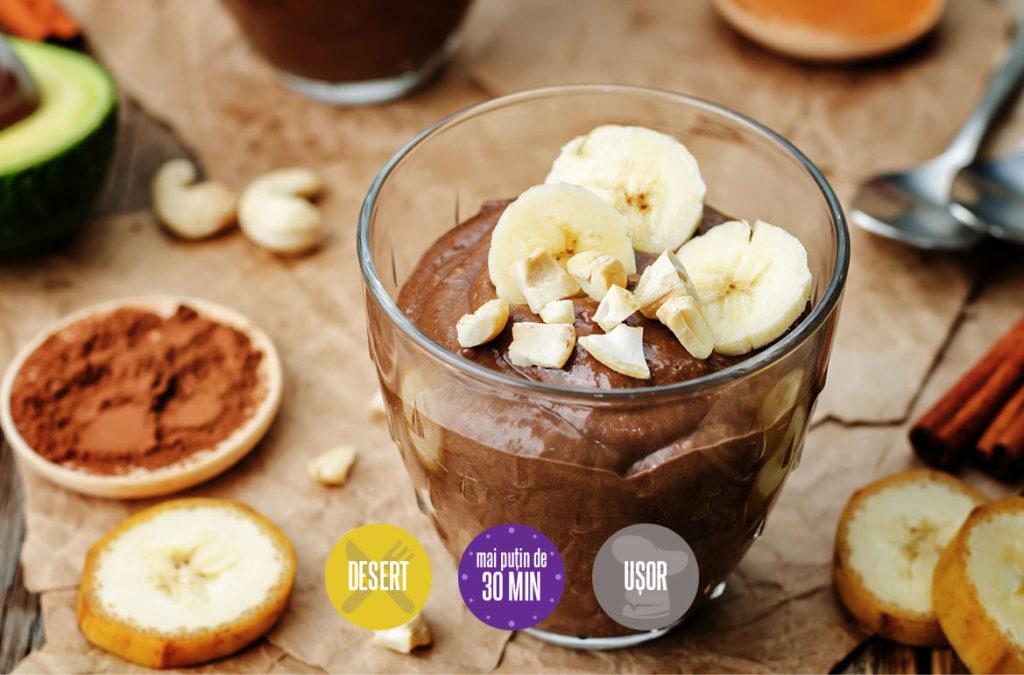 cremă de cacao cu avocado și banane