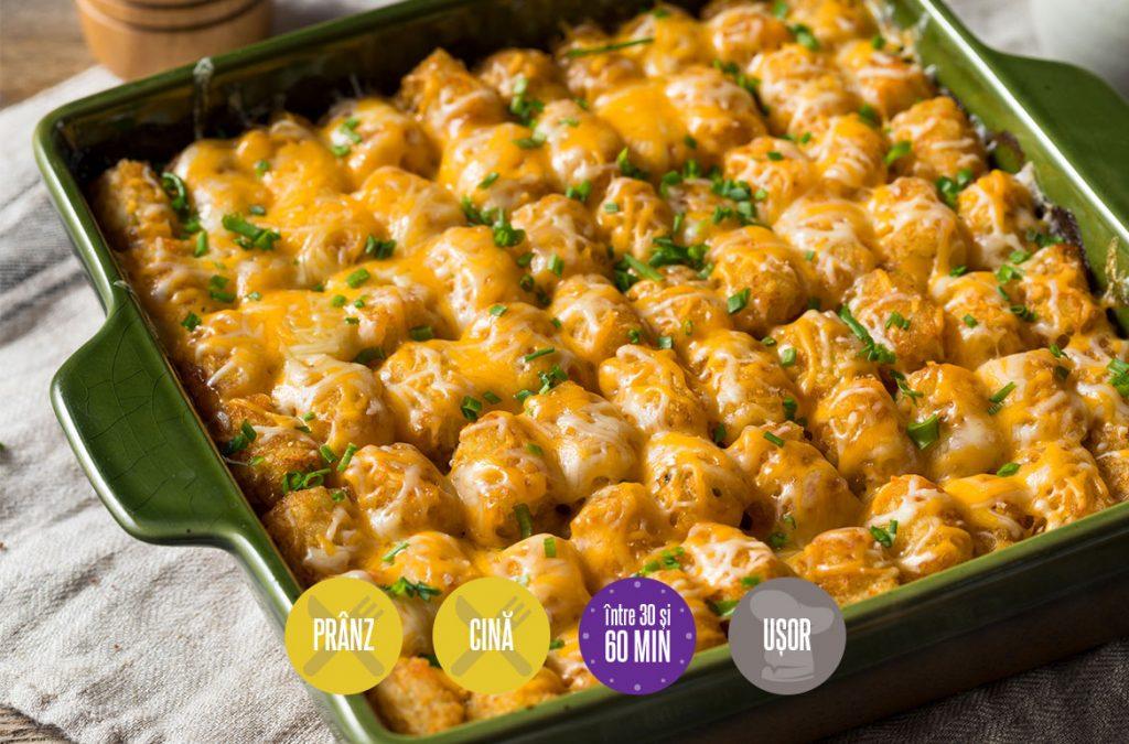 găluște de cartofi cu sos de brânză