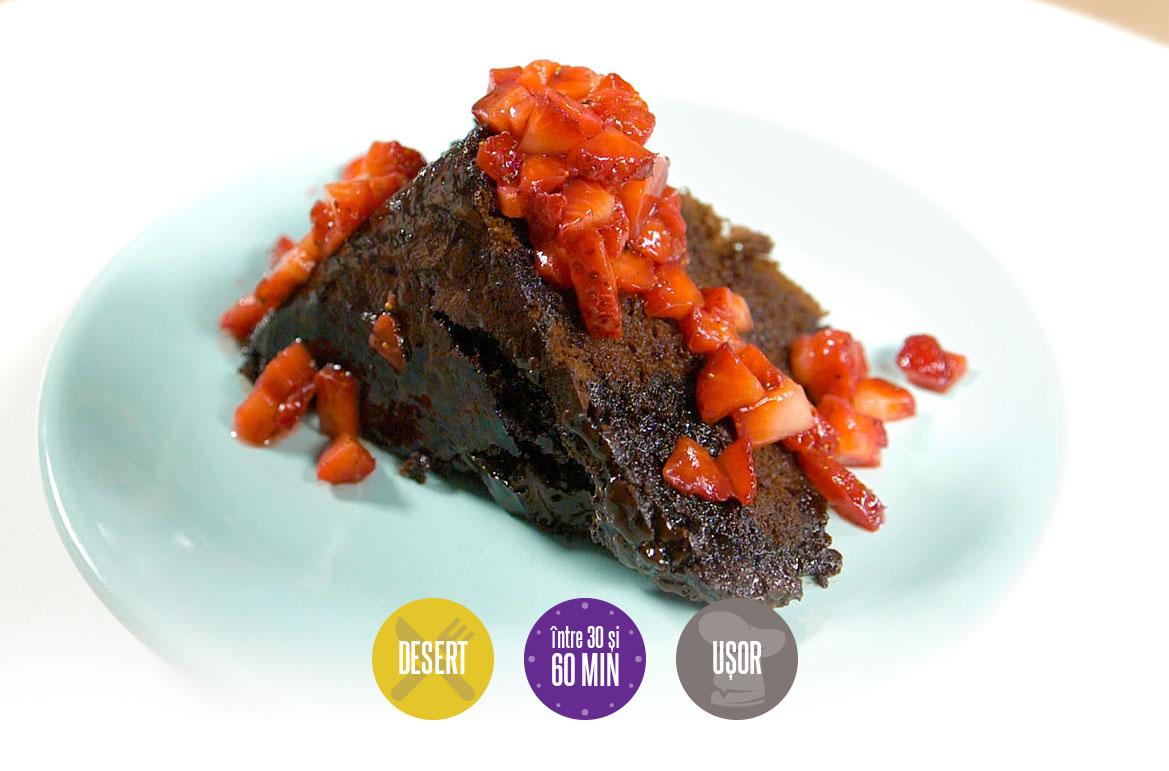 negresă cu sos de căpșuni