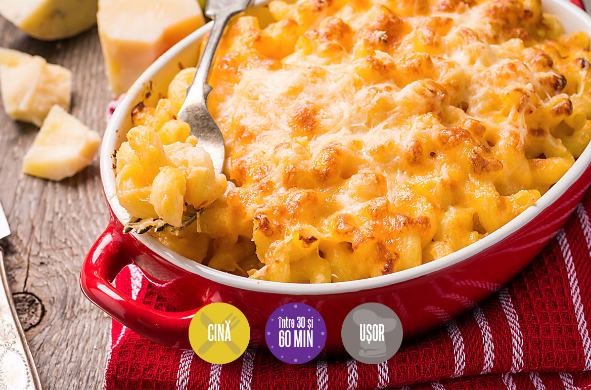 paste cu brânză (Mac and Cheese)