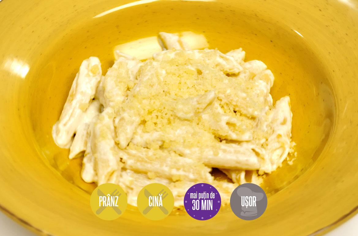 penne cu sos de brânză