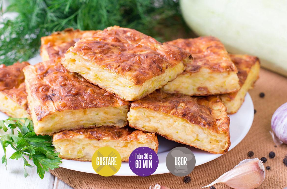 placintă cu dovlecei și brânză
