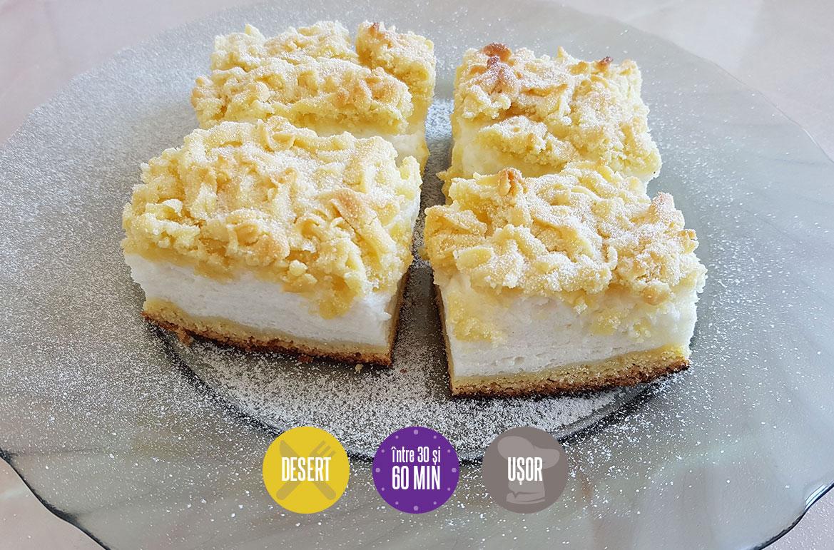 prajitură cu cremă de iaurt
