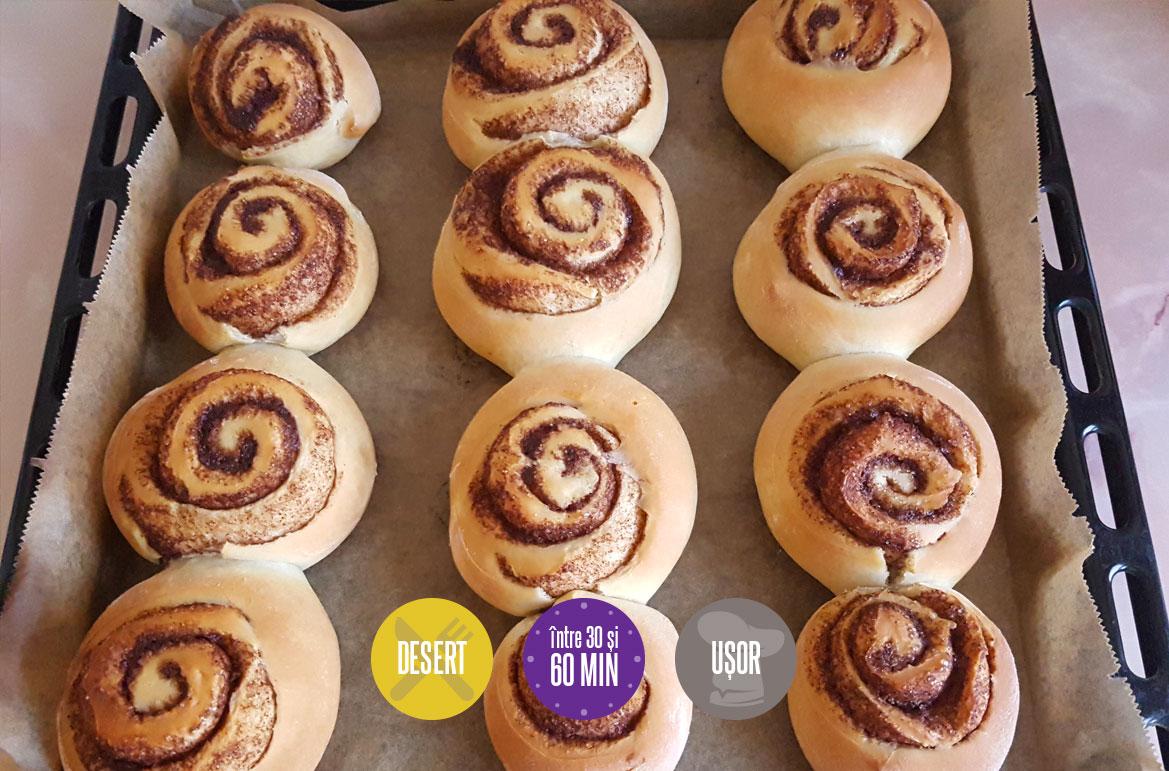 Rulouri cu scorțișoară (Cinnamon rolls)