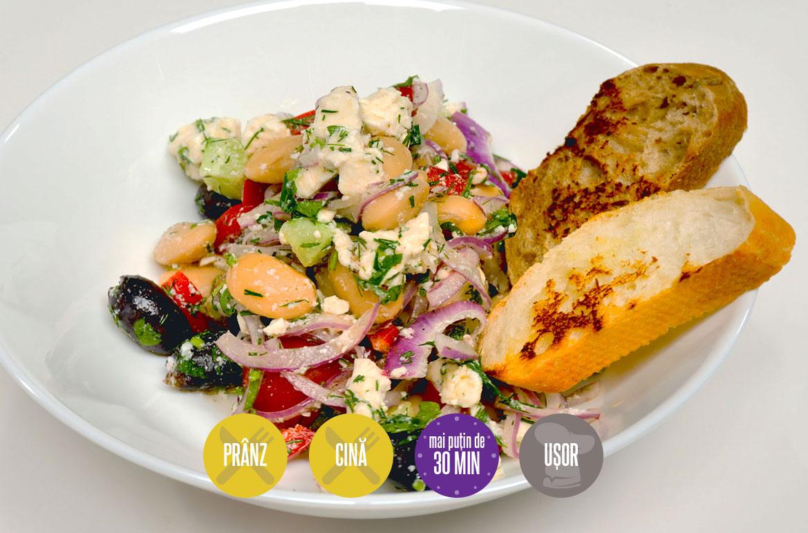salată cu fasole boabe