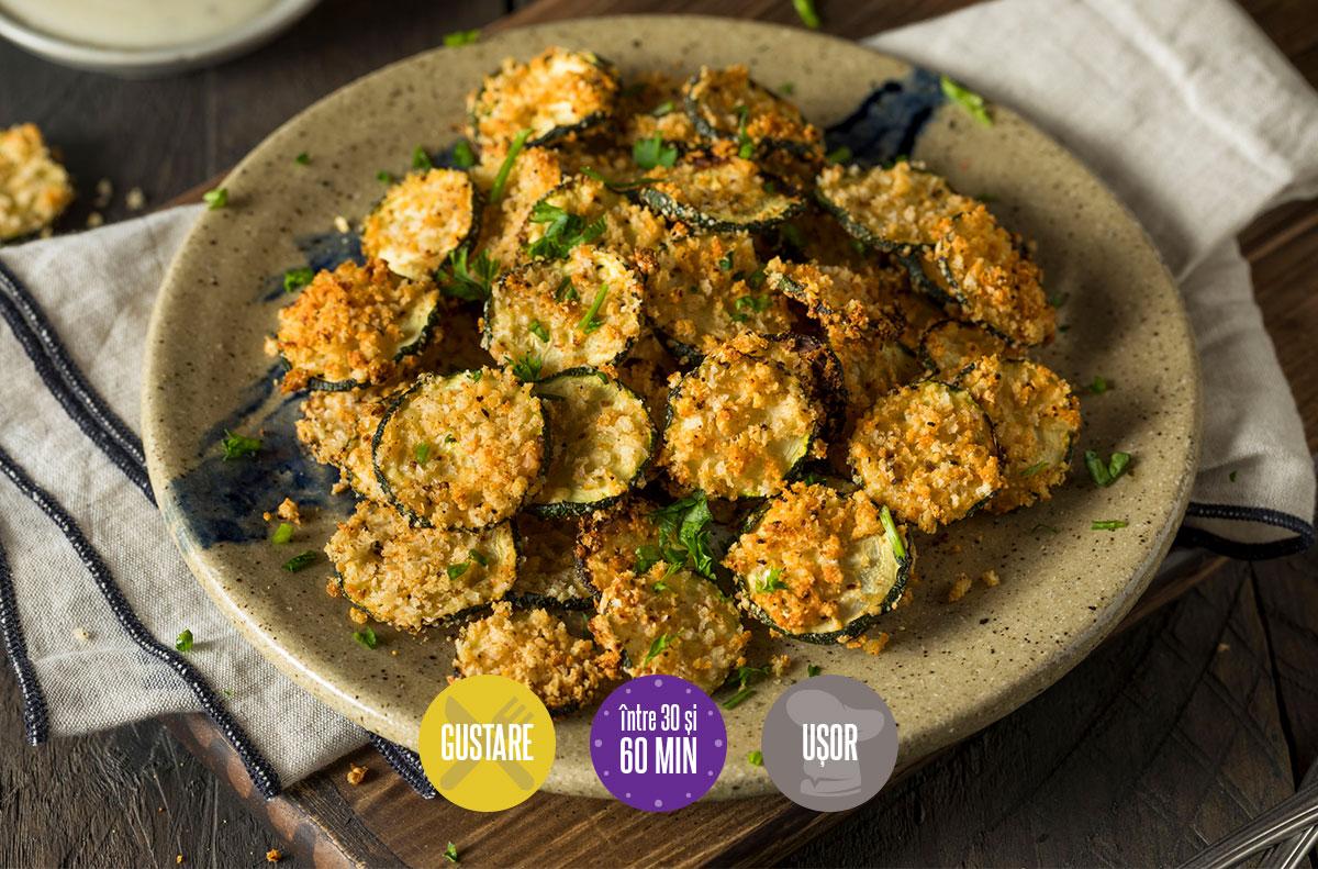 Chipsuri de zucchini cu parmezan