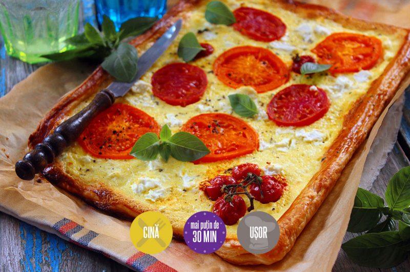 foitaj cu brânză și roșii