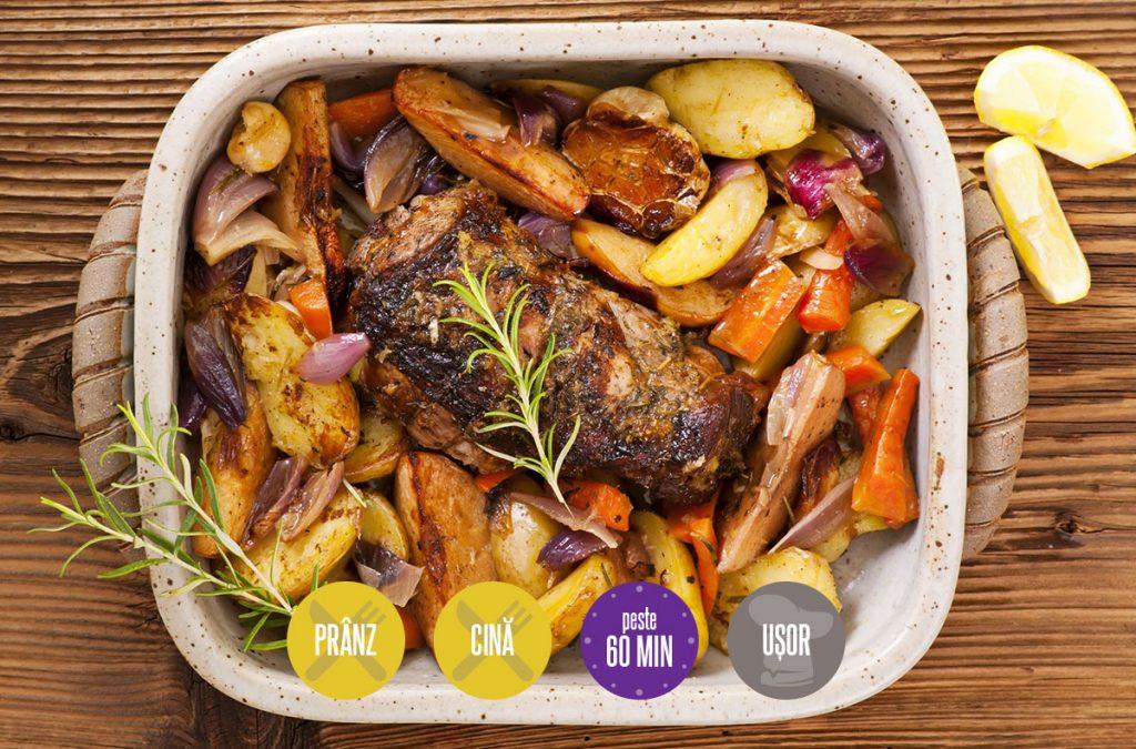 friptură de porc cu legume la cuptor