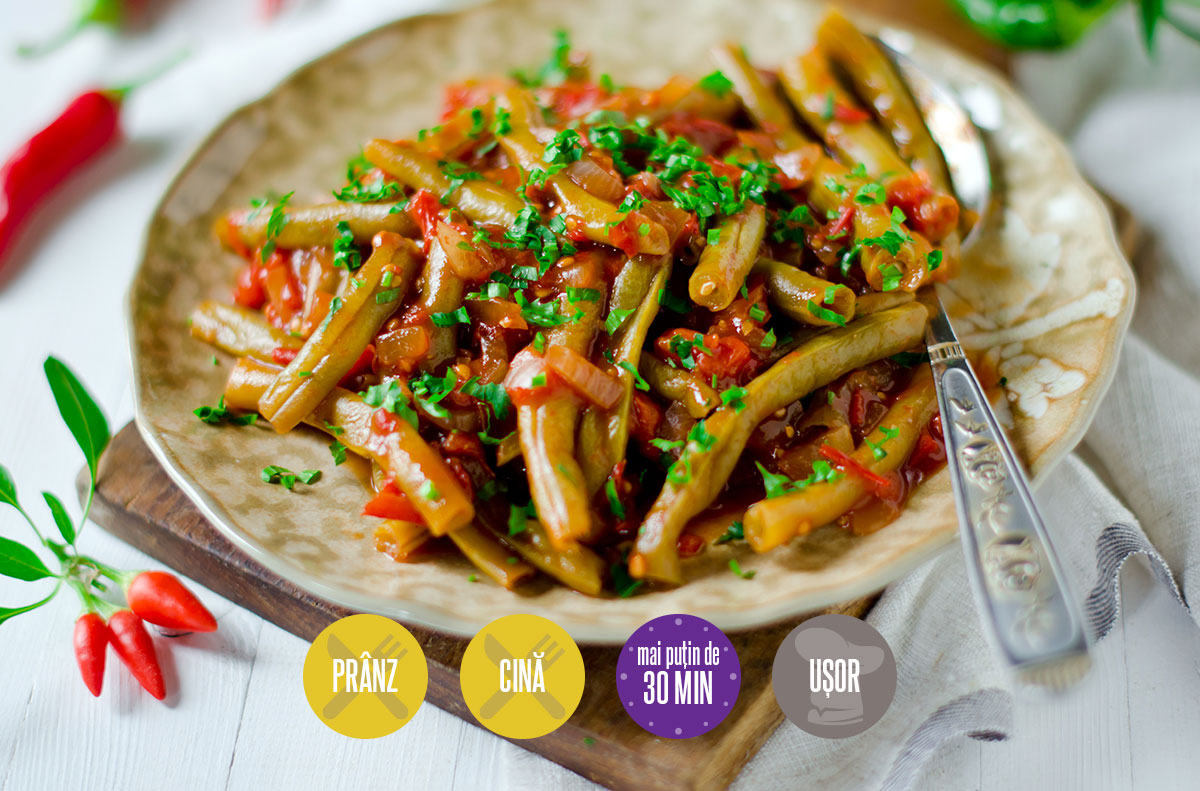 mâncare de fasole verde