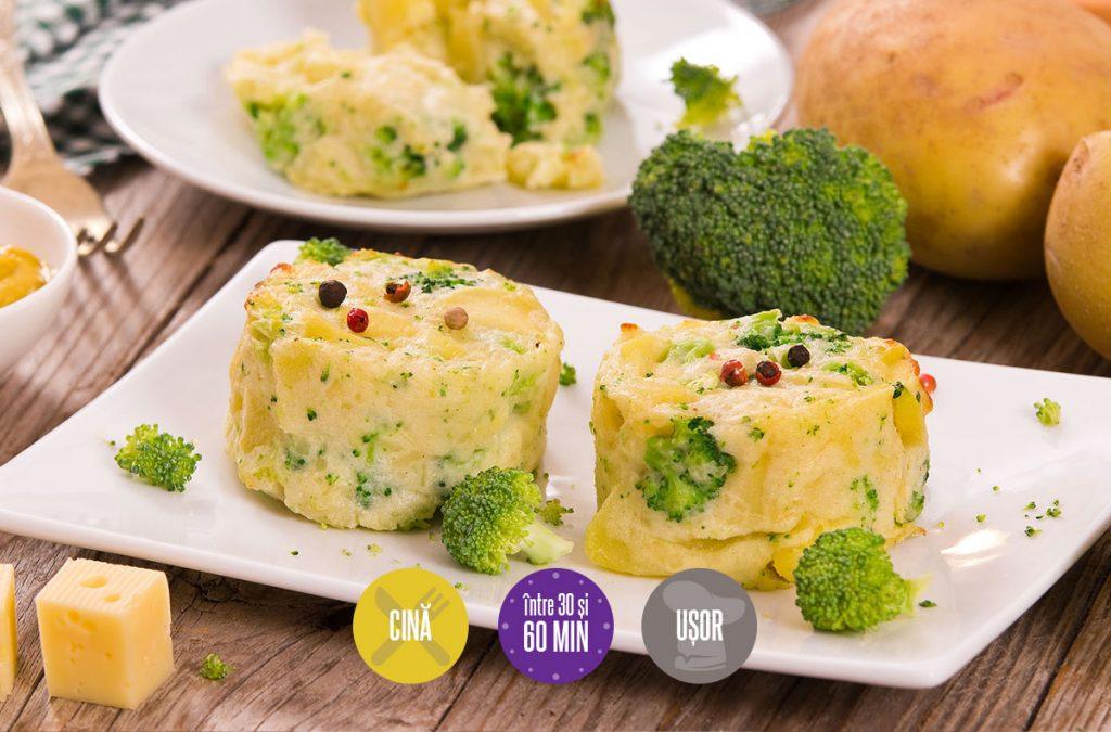 medalioane de cartofi și broccoli