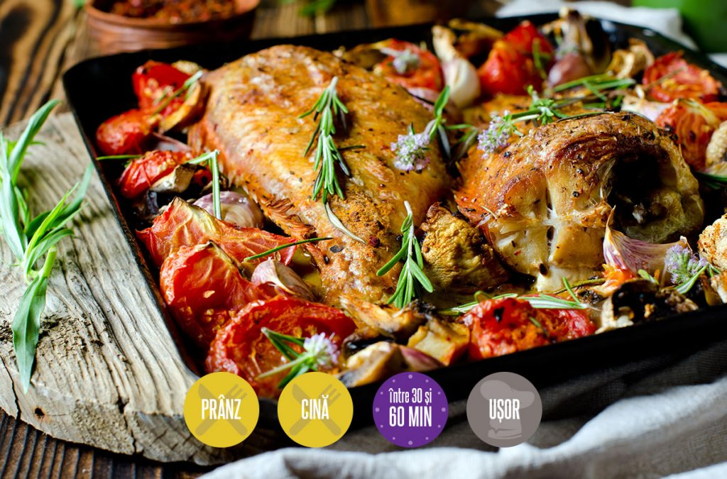 pește cu legume la cuptor