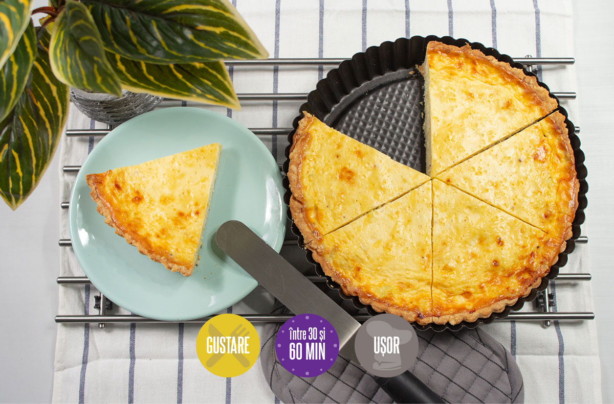 Tartă cu praz și brânză