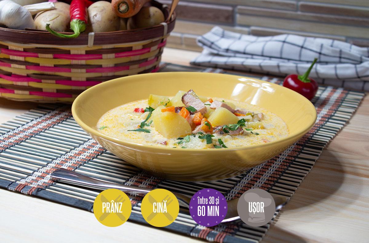 ciorbă de cartofi cu tarhon și smântână