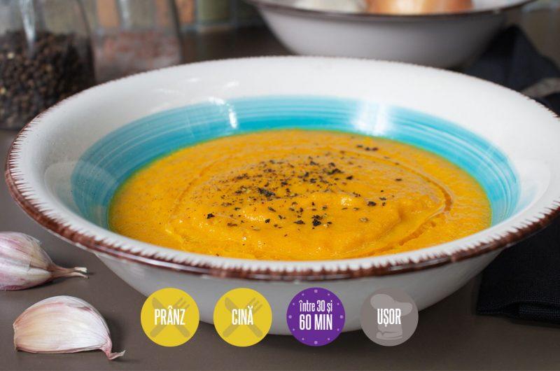 supă-cremă de morcovi