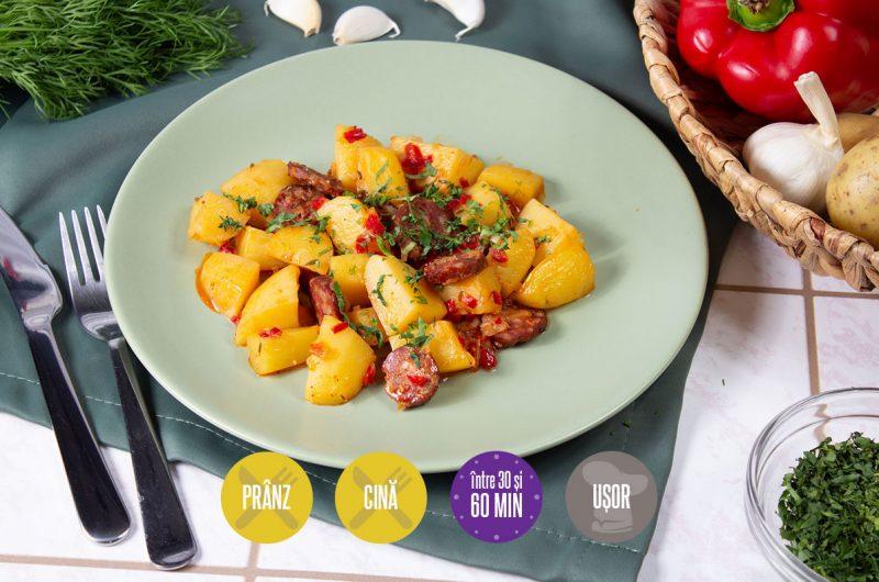tocană de cartofi cu cârnați