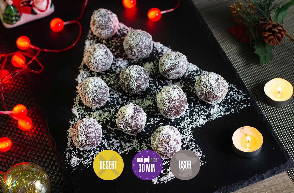 bomboane din biscuiți cu vișine din vișinată