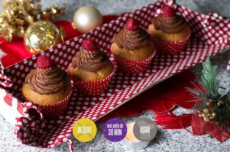 brioșe cu vanilie și ganache de ciocolată