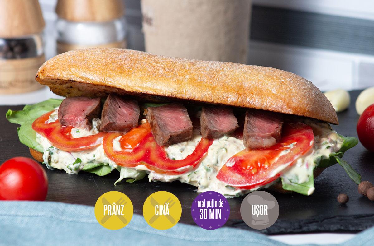 sandviș cu vită și maioneză de casă