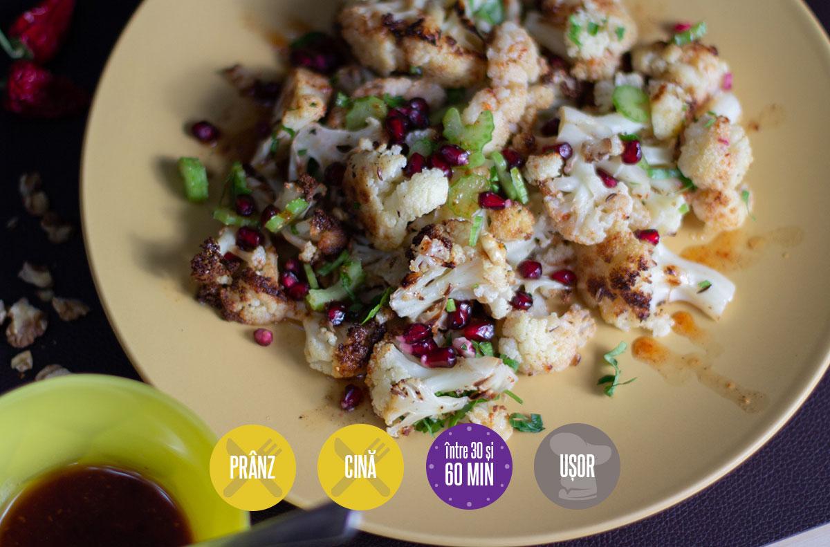 salată de conopidă cu nuci coapte