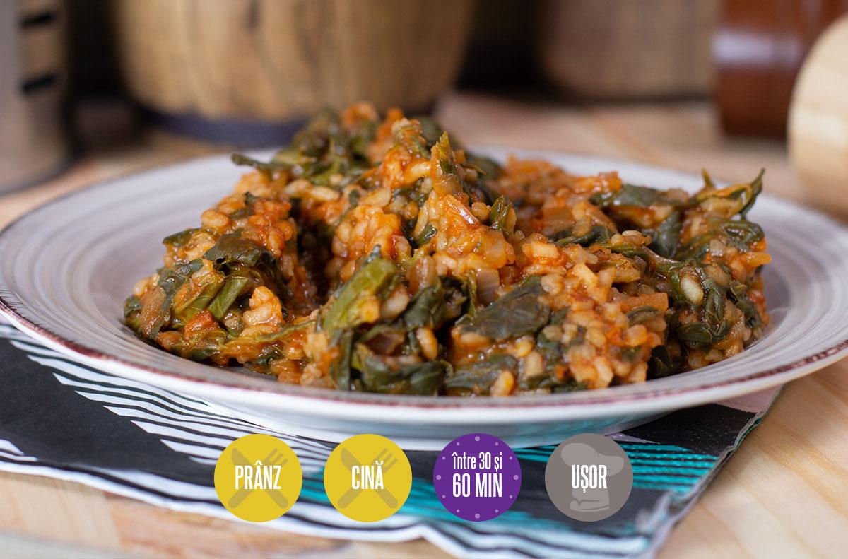 mâncare de ștevie cu orez