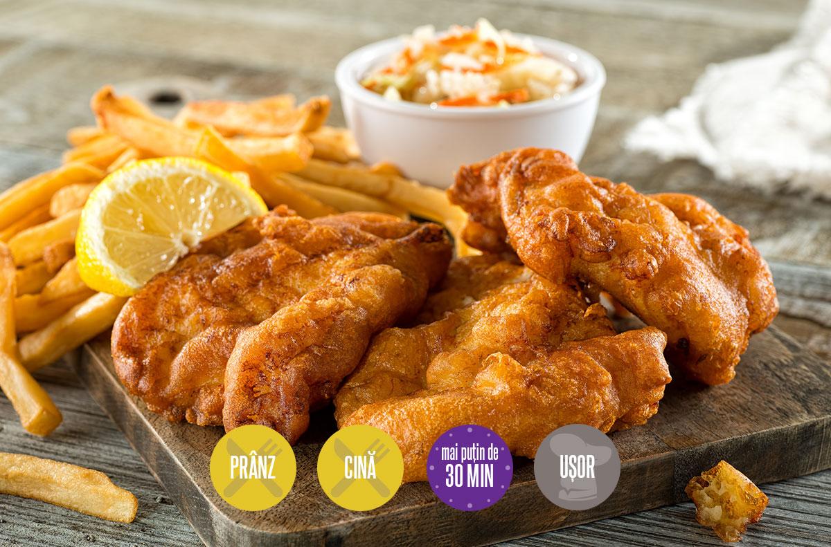 pește pane sau fish and chips