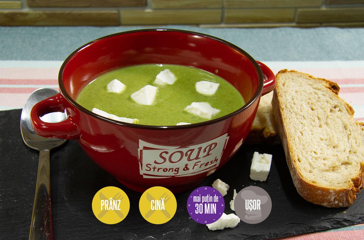supă-cremă de spanac
