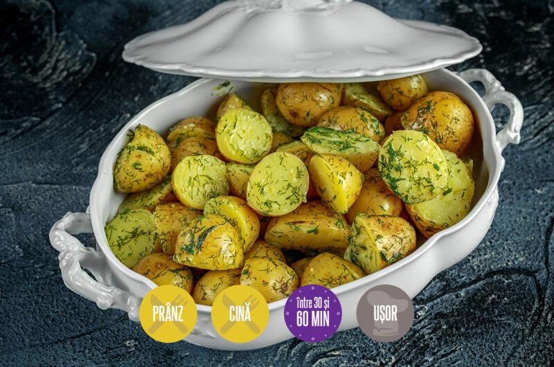 cartofi noi cu unt și mărar