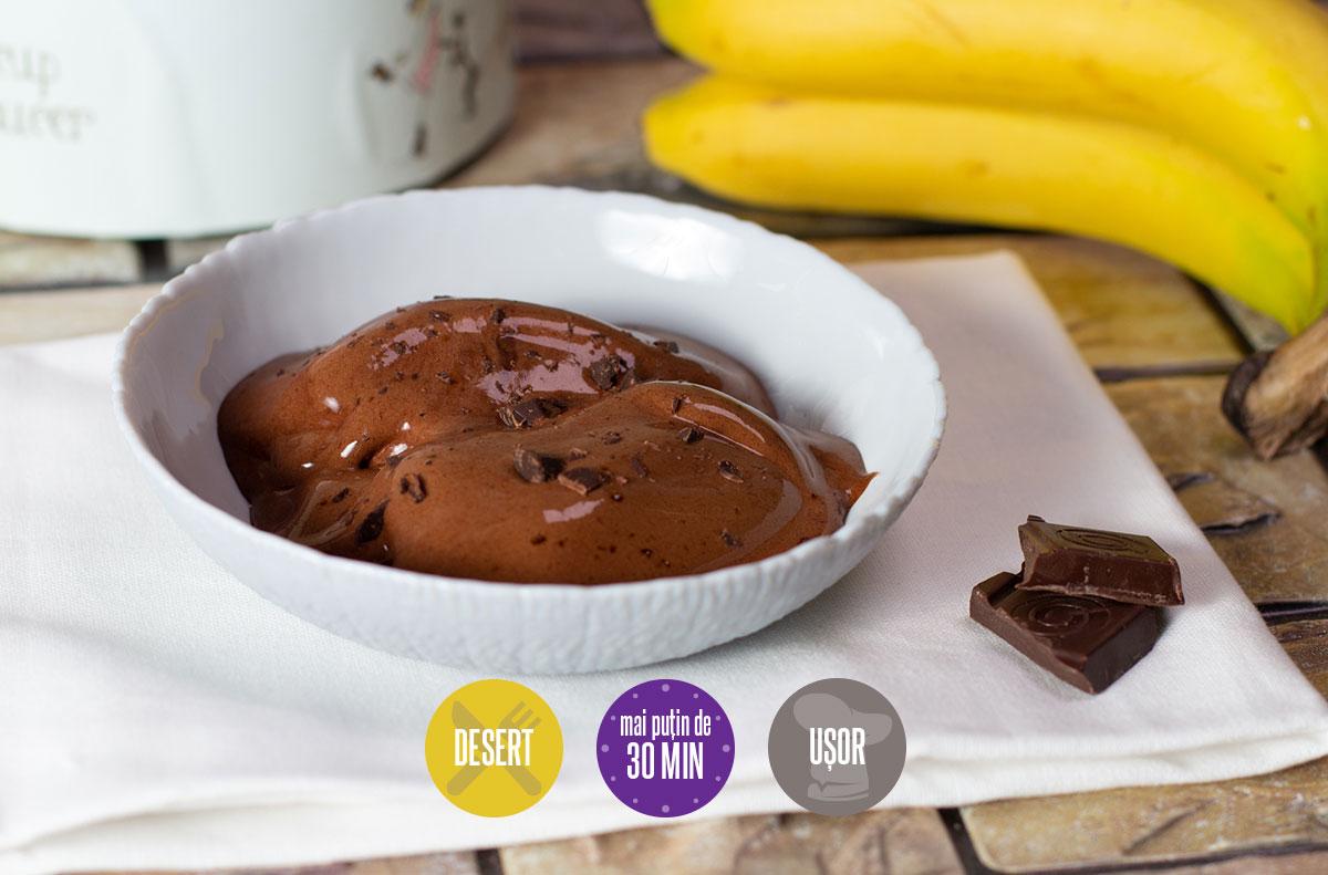înghețată de banane cu cacao