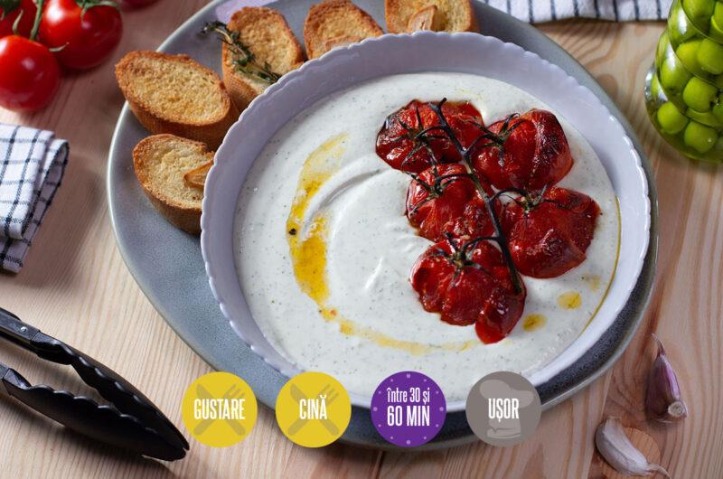 sos de brânză cu roșii coapte