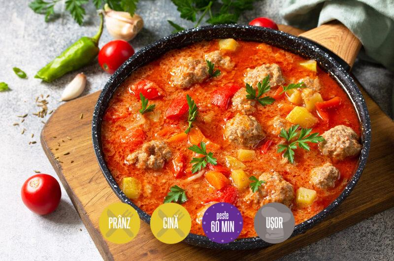chiftele spaniole în sos de roșii