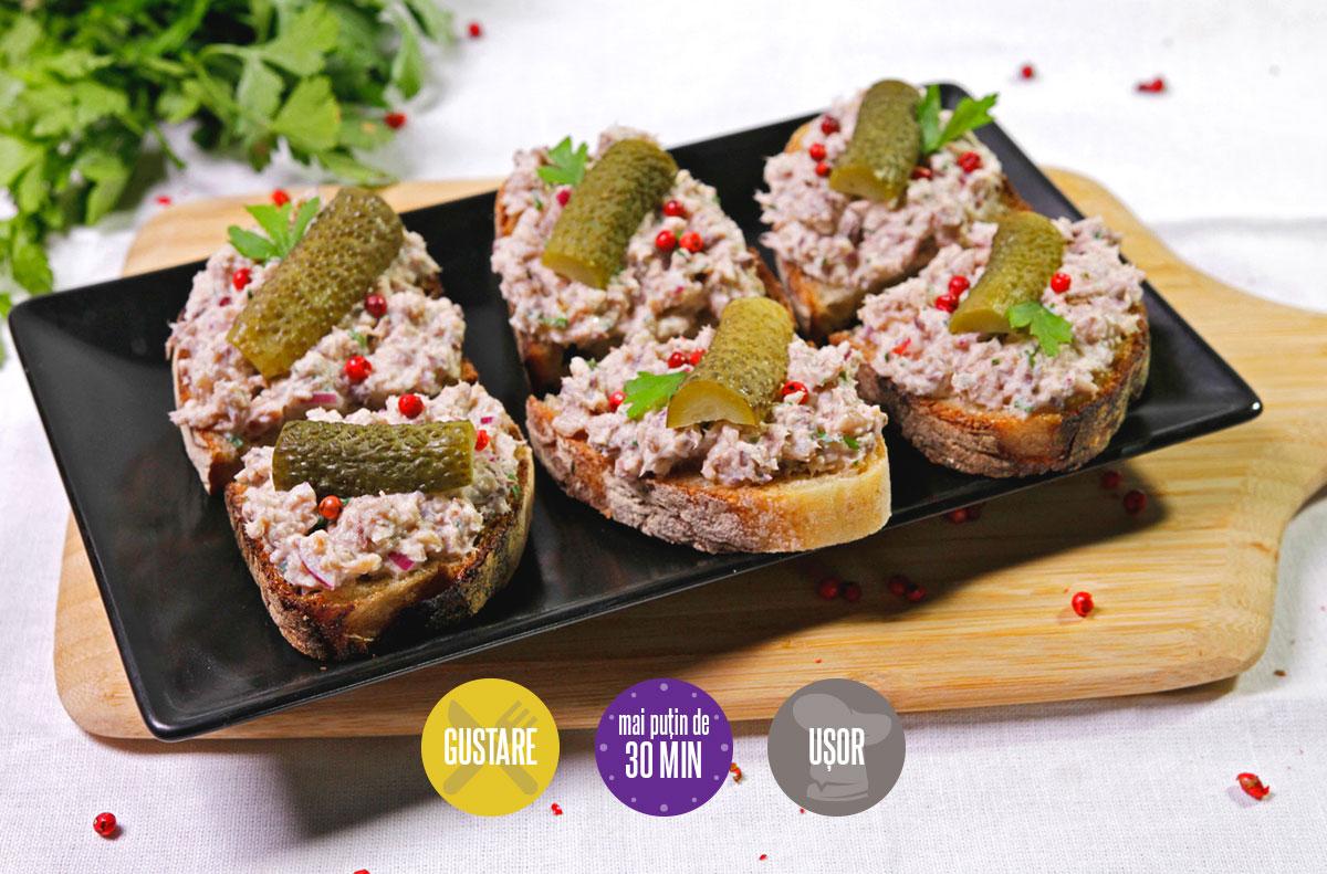 pasta de sardine cu cremă de brânză