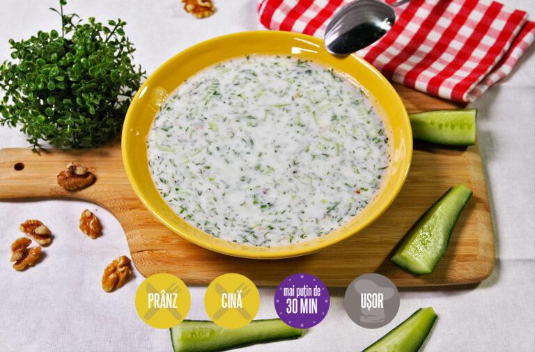 tarator sau supă rece de iaurt și castraveți