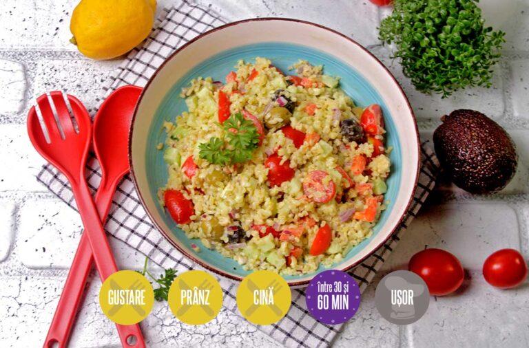 salată cu bulgur și legume