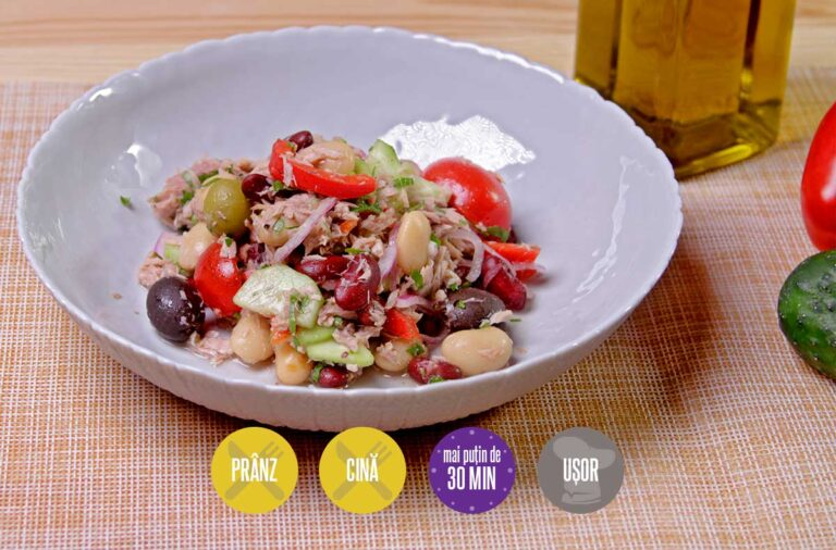 salată cu ton și legume