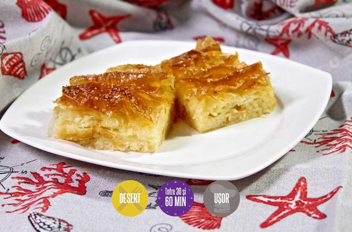 plăcintă cu cremă de vanilie